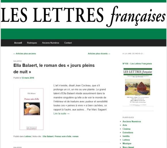 home page lettres françaises